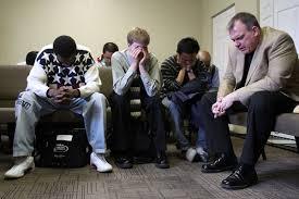 praying together one
