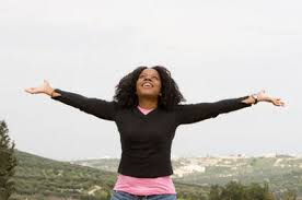 rejoicing woman two