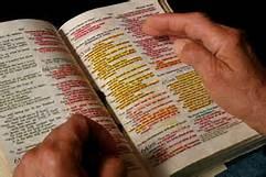 underlined Bible